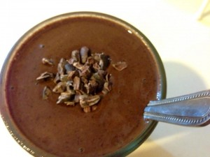 Raw vegan chocolate smoothie
